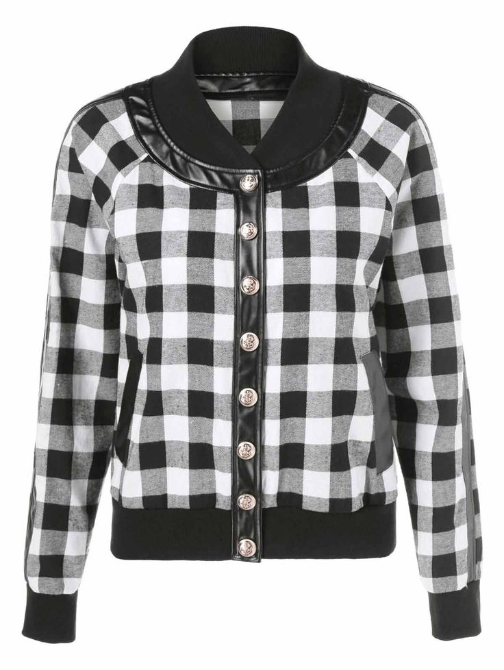 Black and white checkered bomber jacket – Jackets photo blog