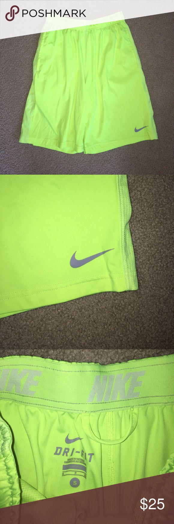 Neon Yellow Nike Basketball Shorts GREAT Condition. Worn a few times. Nike Shorts