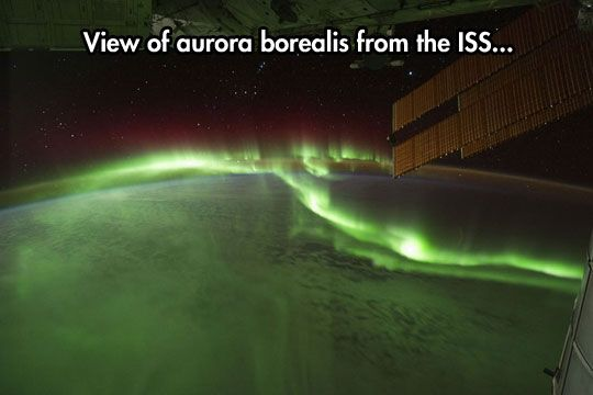 Northern Lights from space...