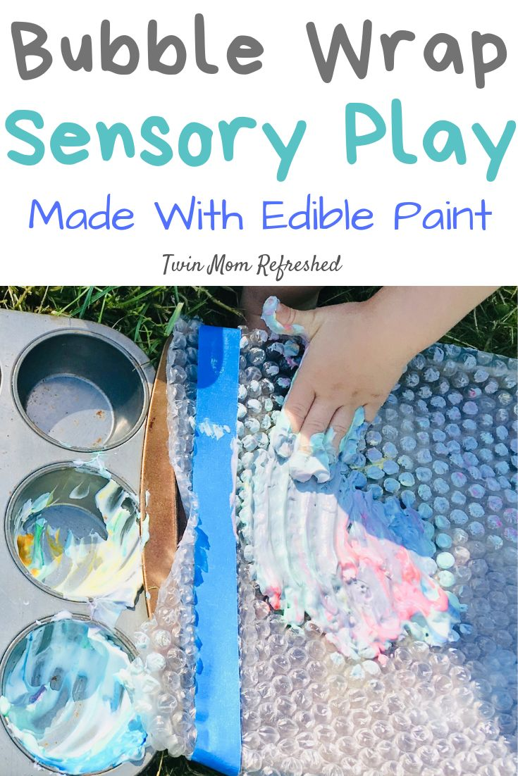 Bubble Wrap Sensory Play Activity for Toddlers and Babies