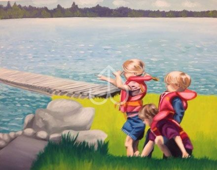 "Cottage Memories, Oil painting, 22""x25"""