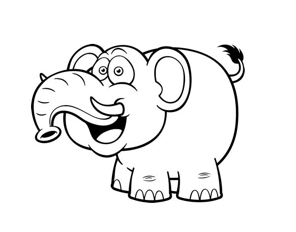 Dibujo de Elefante asiático para colorear | Dibujos de Animales ...