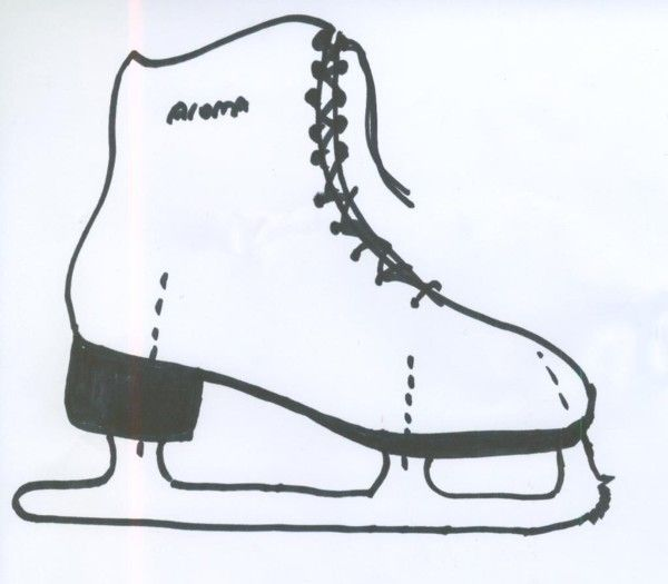 ice skating boot template templates pinterest ice. Black Bedroom Furniture Sets. Home Design Ideas