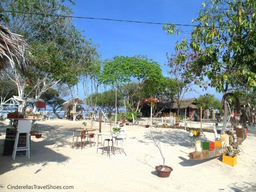 Restaurant in Gili Trawangan in rural place of the island