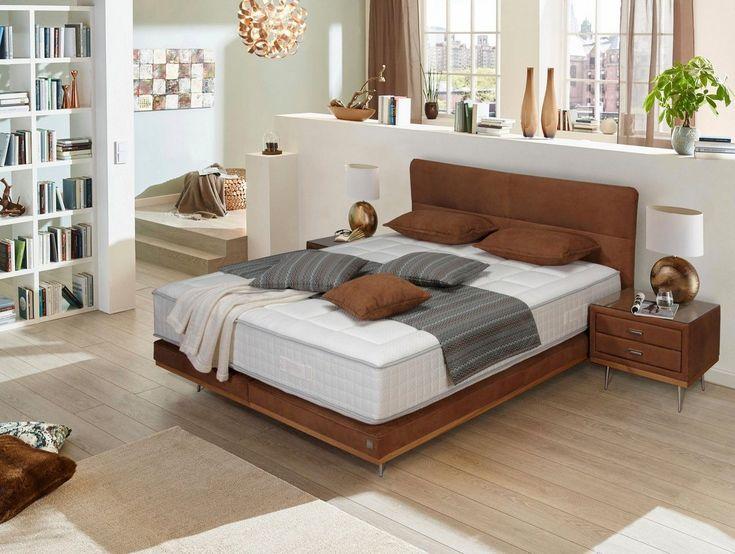Boxspringbett »Teana«, mit Metallfuß und Holzleiste, in 3 Größe #Products