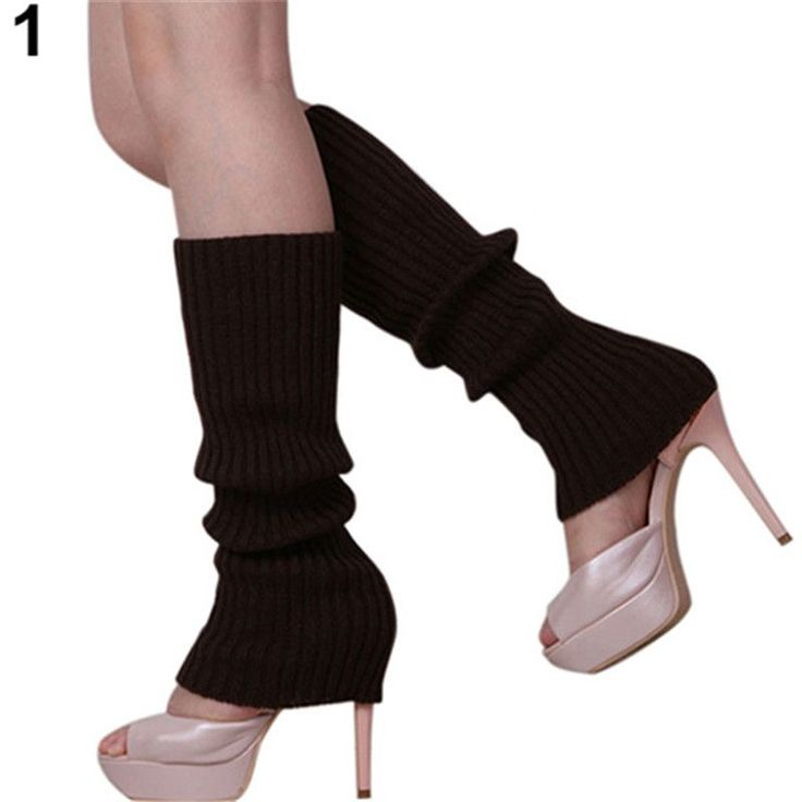 2016 11color Sexy Fashion Women Leg Warmers Winter&Autumn Solid Color Knit Leg Warmers Knee High Legging Boot Stockings CJ214