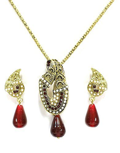 Stunning Indian Bollywood Red & White Stone Gold Plated P... https://www.amazon.com/dp/B01NB10IN9/ref=cm_sw_r_pi_dp_x_oieMybJETNV9M