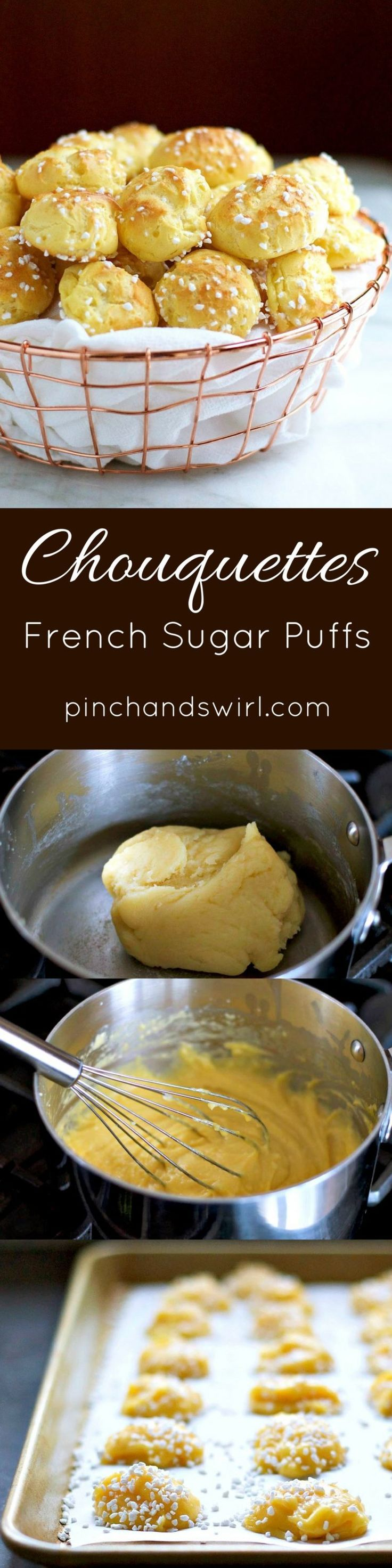 Chouquettes are a French Sugar Puff Recipe that is easy and delicious!   Chouquette Recipe   French Cream Puff Recipe