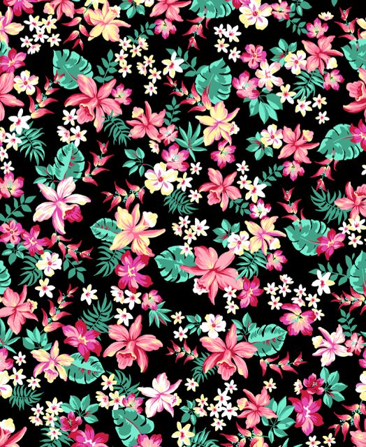 Floral print pattern estampas e padroes florais pinterest flower patterns and pattern flower for Print from pinterest