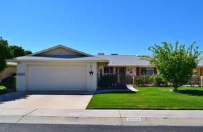 Sun City Arizona Adult Community Homes For Sale  $134,000, 2 Beds, 1 Baths, 1,670 Sqr Feet  Very nice Sun City Duplex.2 Bedrooms, 2 Baths. Kitchen has light colored cabinets, counter tops and appliances. The front kitchen has a bay window breakfast nook. Tiled foyer, kitchen and baths. Living room, formal dining room and Arizona room have laminate flooring. Master Bath has walk-in shower.A complete and FREE UP-TO-DATE list of Phoenix homes for sale in Adult Communities!  http://mik..
