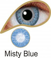 MesmerEyez Naturalz 1 Month Misty Blue Contact Lenses