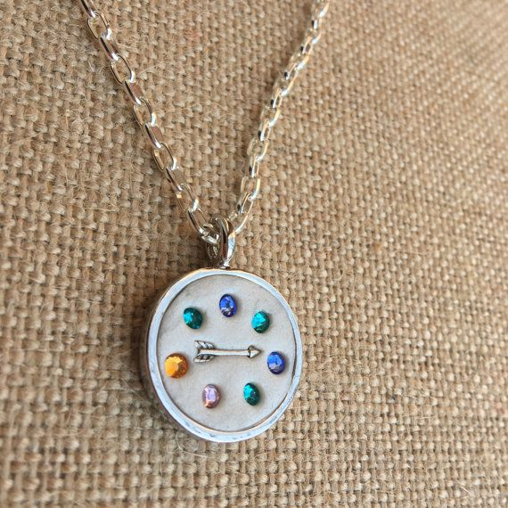 Swarovski Crystal Birthstone necklace with Arrow by CharlottesCCs