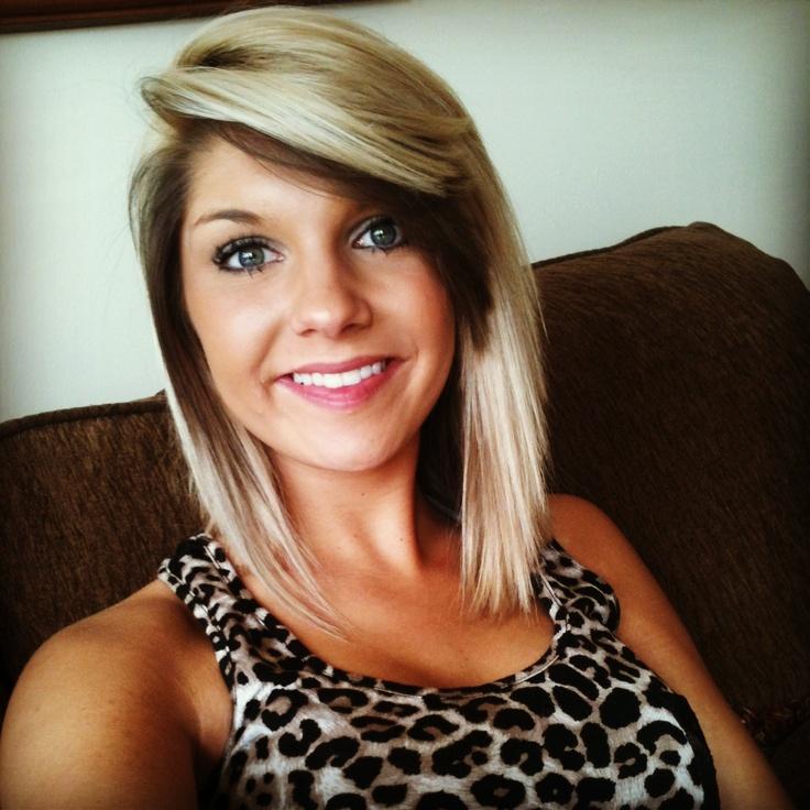 Hair cut and dark underneath bangs is my favorite on me !!