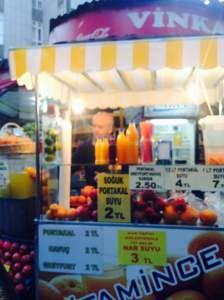 Fresh Juice Stand in Ankara