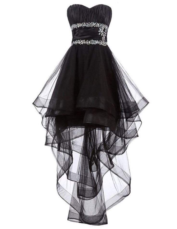 Black Semi Formal Dresses Vestido Curto High Low