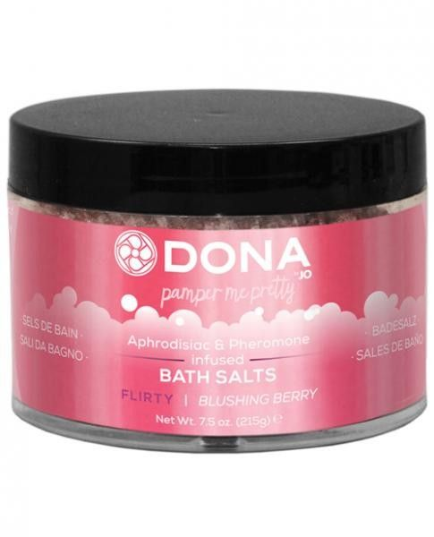 Dona Bath Salt Flirty Blushing Berry 7.5oz Awaken the senses with DONA Bath Salts a soothing blend of aphrodisiacs & pheromones and blushing berry aroma will leave skin beautifully soft and refreshed. Aroma: Blushing Berry 7.5 oz  108,65 kr https://adultshopping.no/bath-shower/25510-dona-bath-salt-flirty-blushing-berry-75oz.html