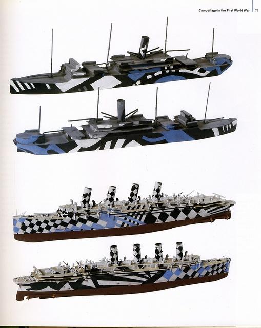 Dazzle painted models- Lt Comm Norman Wilkinson