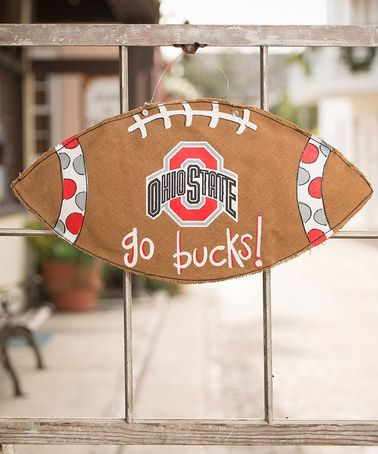 Take a look at this Ohio State Football Burlap Wall Hanging by Glory Haus on #zulily today!