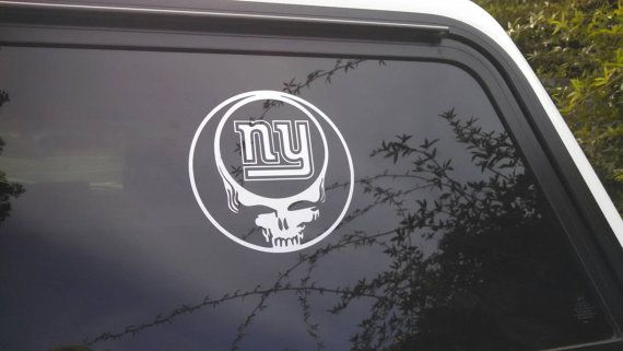 Grateful dead new york giants die cut vinyl decal window car