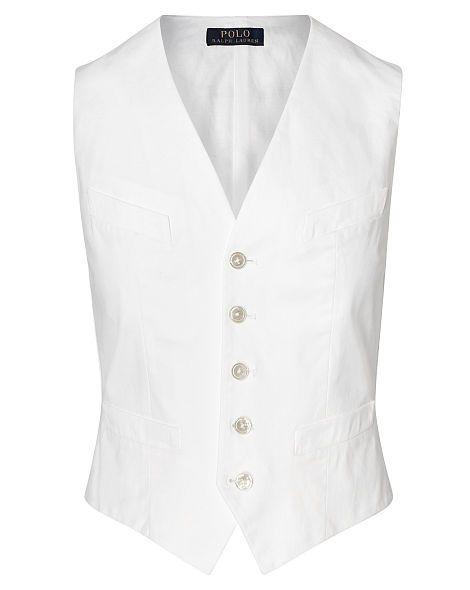 Stretch Cotton Twill Vest - Polo Ralph Lauren New Arrivals - RalphLauren.com