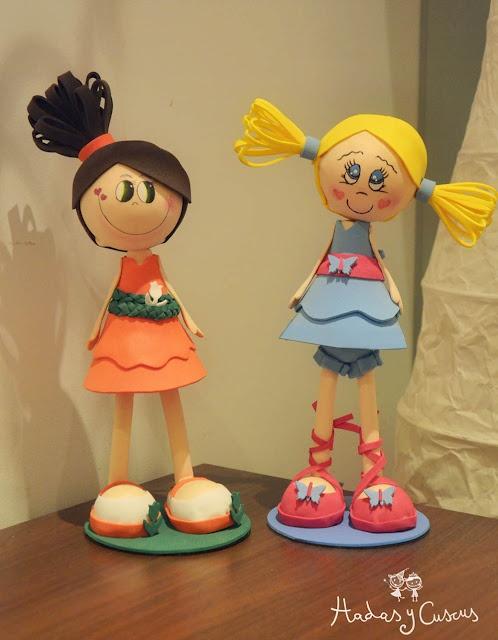 muñecas fofuchas carol y eva