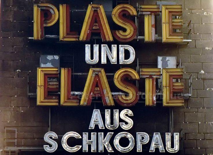 ROSSLAU-ELBBRÜCKE - DDR - PLASTE UND ELASTE AUS SCHKOPAU