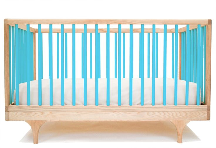 azul berço conversível minimalista - minimoi