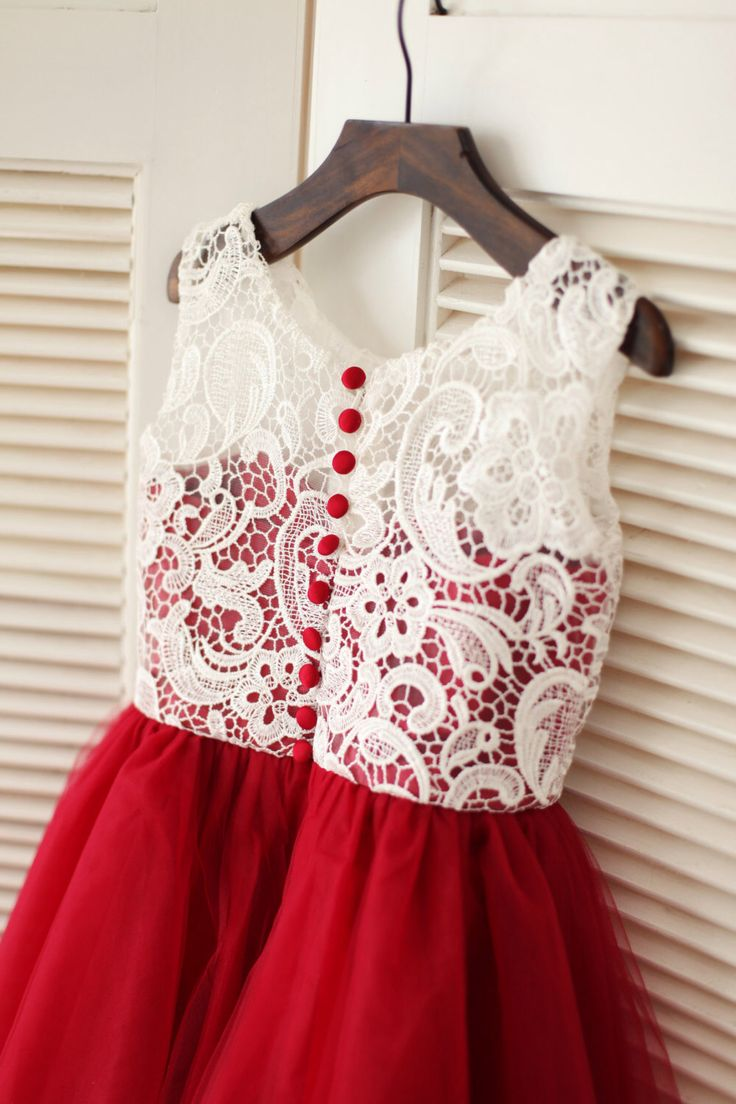 1601 best dresses images on pinterest cute dresses clothes and red tulle ivory lace flower girl dress children toddler dress for wedding junior bridesmaid dress by ombrellifo Gallery