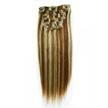 18 inches #4/613 7 pieces Clip In Human Hair Extension