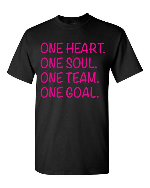 Hit Cheer T-Shirt, Cheerleader Shirt, One Heart One Soul One Team One Goal, #cheerislife #cheerleading #ad