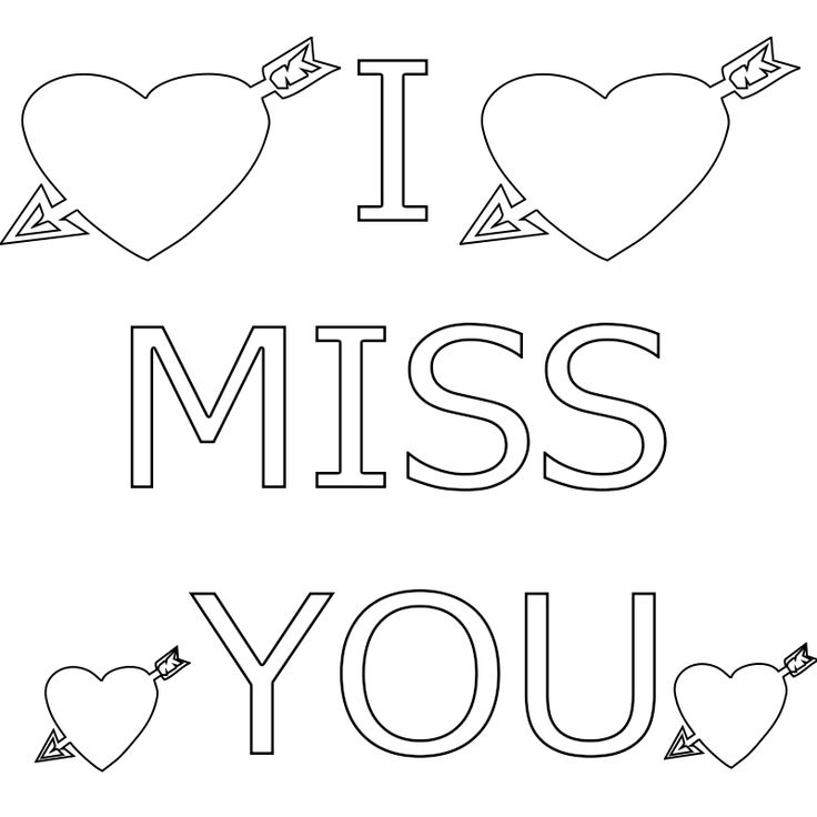 i miss you coloring pages coloring pages