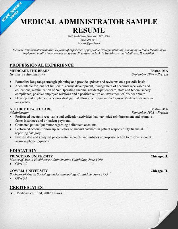 12 Medical Administrative Assistant Resume Samples | Riez Sample Resumes