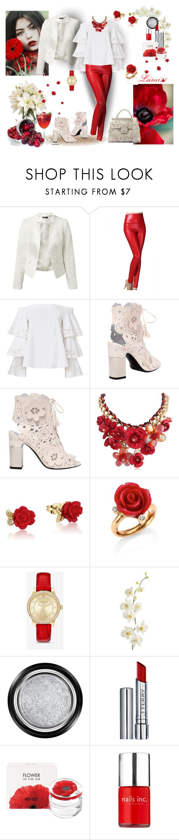 """cherry's time"" by lumi-21 ❤ liked on Polyvore featuring Exclusive for Intermix, Roger Vivier, Sia, Disney, Oscar de la Renta, Express, Pier 1 Imports, Giorgio Armani, By Terry and Kenzo"