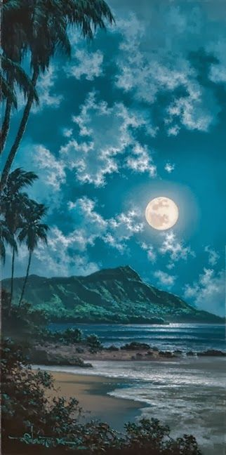 Full moon - Beautiful Waikiki, Hawaii! Home sweet home!