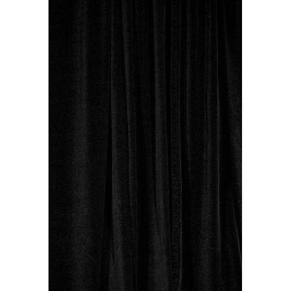 rideau de velours noir velours noir