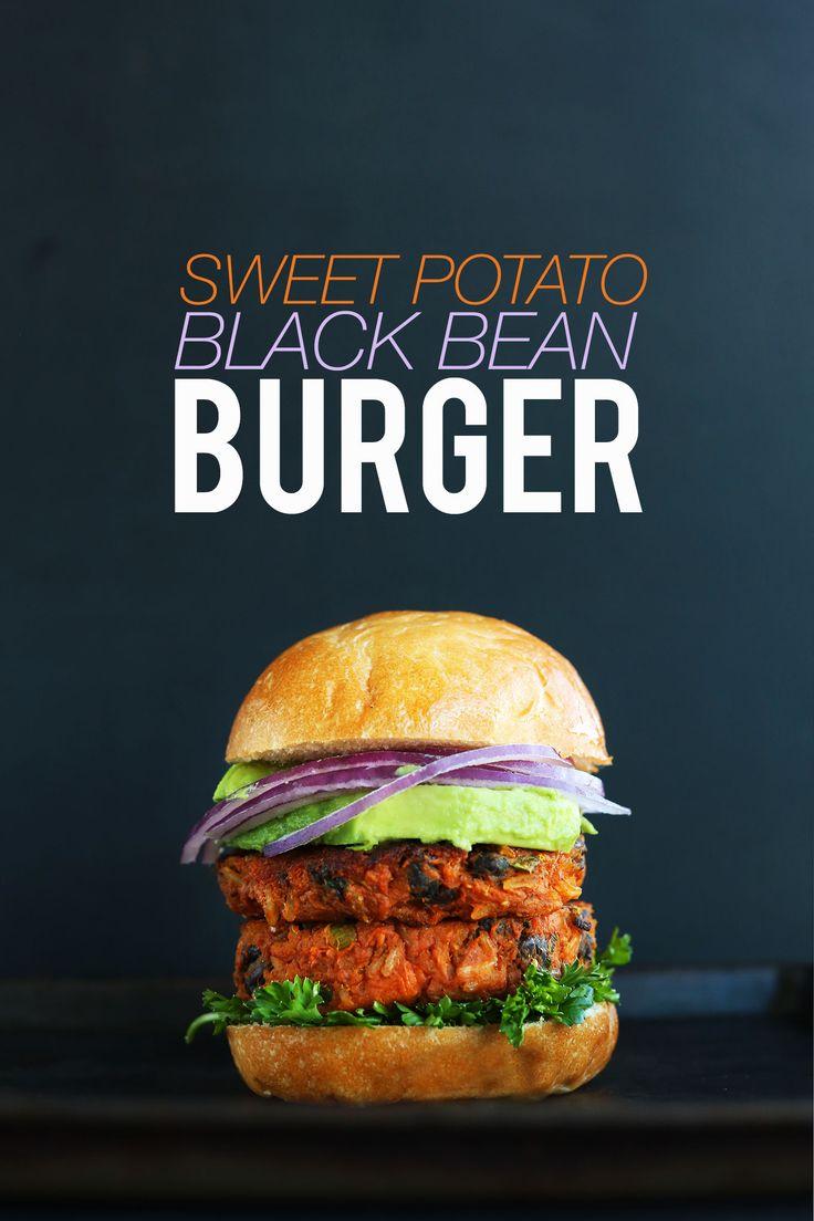 AMAZING 10 INGREDIENT SWEET POTATO BLACK BEAN BURGER! Tender, flavorful, hearty, SO delicious | Minimalist Baker
