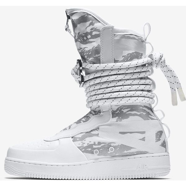 c117f033b Nike SF Air Force 1 Hi Ibex Men's Boot. Nike.com ($240) ❤ liked on Polyvore  featuring men's fashion, men's shoes, men's boots, mens shoes and mens boots