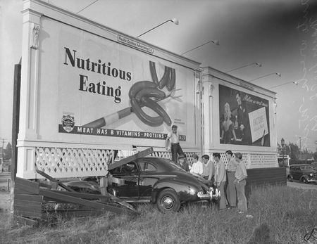 los angeles vintage billboards | into billboard on Wilshire Blvd. and Mansfield Street in Los Angeles ...