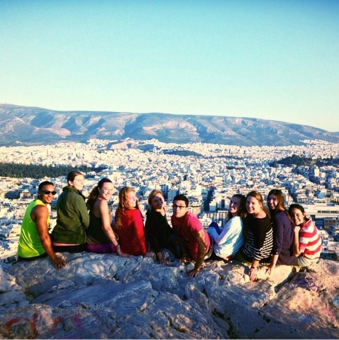 Taking a break from classtime to enjoy the view from Philapappou Hill.   http://instagram.com/cyathens
