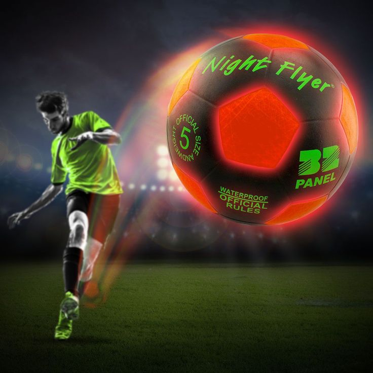 Stocking Fillers - Light Up LED Soccer Ball $24.95. A great Christmas present for fitness lovers!