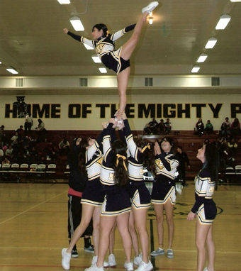 difficulties of cheerleading The fifth position is the front spot this position is optional and is only used when extra help lifting the flyer is needed the front spot can find any spot on the flyers leg or foot that is available to hold and help lift some of the weight off of the bases.