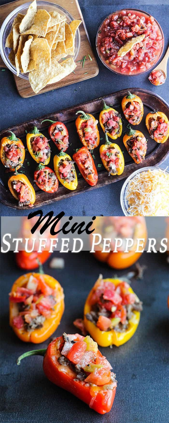 Get the party started with 4-Ingredient Mini Stuffed Peppers. A quick & easy recipe that's full of flavor!