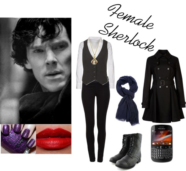"""Female Sherlock Holmes"" by e-coakley ❤ liked on Polyvore"