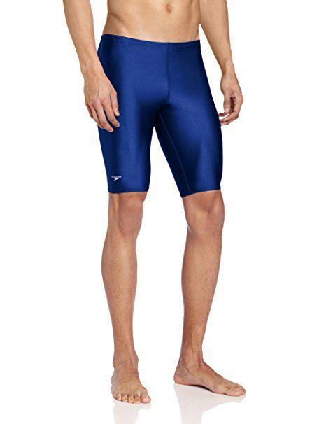 95b0fd74dc Amazon.com   Speedo Men s PowerFLEX Eco Solid Jammer Swimsuit   Athletic  Swim Jammers   Sports   Outdoors