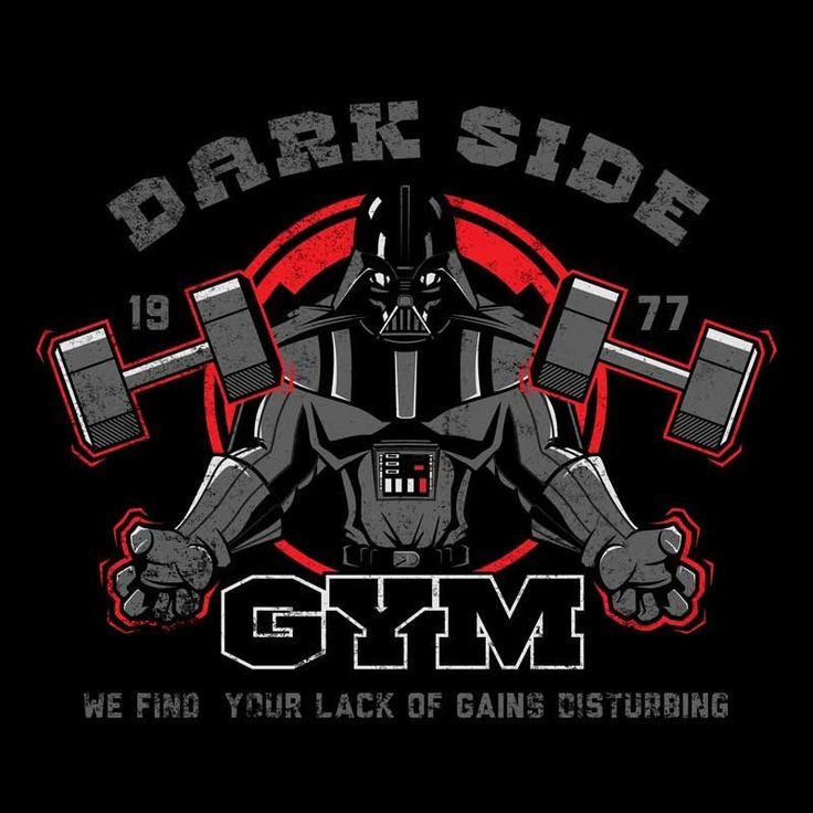 DARK SIDE GYM T-Shirt - Darth Vader T-Shirt is $13 today at Ript!