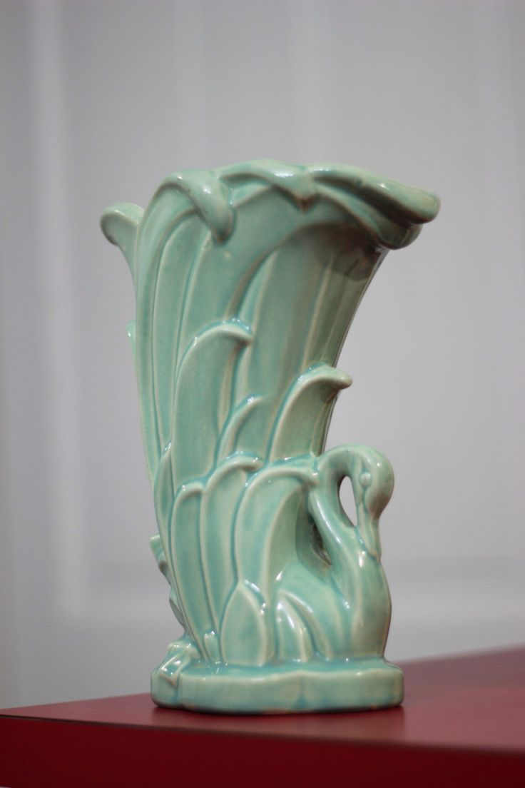 McCoy pottery Swan vase, Antique vase circa 1940's by TheCalicoCupboard on Etsy https://www.etsy.com/listing/214322454/mccoy-pottery-swan-vase-antique-vase