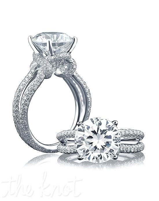 I love split shank rings, but they are getting so popular. This is a nice variation. A. JAFFE ME1631 ME1631 Engagement Ring and A. JAFFE ME1631 ME1631 Wedding Ring
