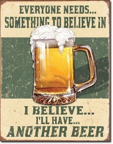 "The Rustic Shop - 16"" x 12.5"" Funny Beer Drinking Quote Tin Wall Sign - Mancave Garage Decor, $19.99 (http://www.therusticshop.com/16-x-12-5-funny-beer-drinking-quote-tin-wall-sign-mancave-garage-decor/)"