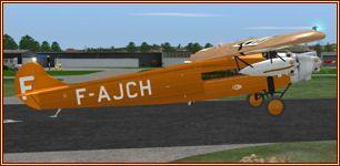 Fokker FVIIb/3M Air France dreimotoriger Oldtimerals FSX Freeware von Jens Kristensen