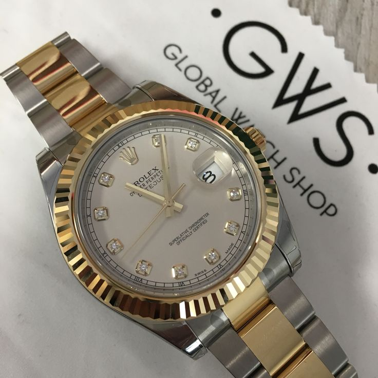 Gold and Diamond... what more do you want! Rolex Datejust II! Get it quick!